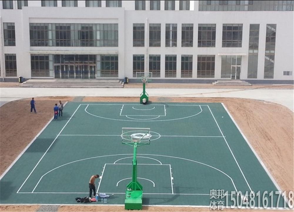 鄂尔多斯康巴什京能热电有限公司室外拼装篮球场