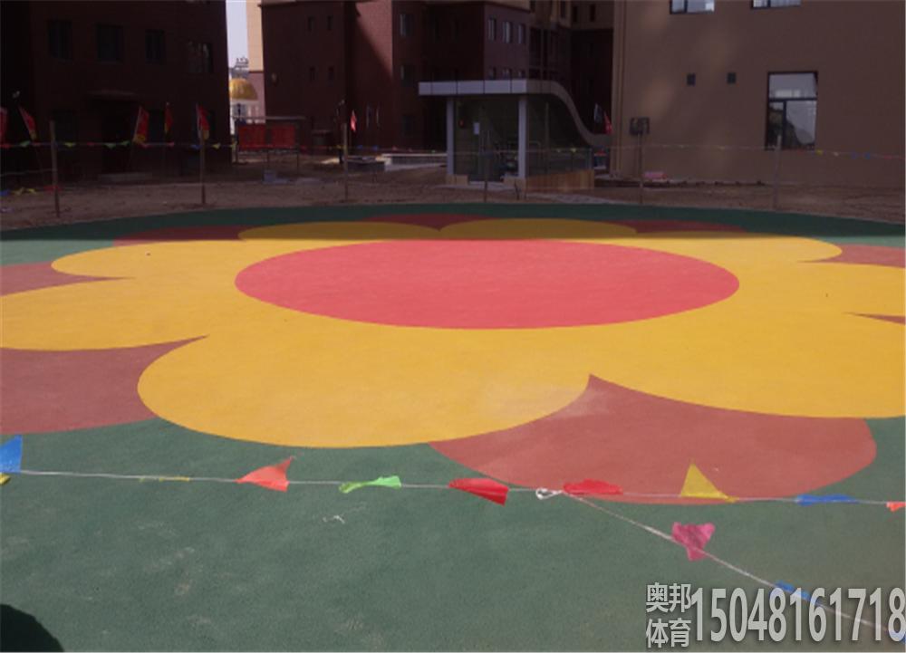 包头当代社区儿童娱乐设施地面